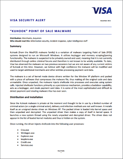 Visa Security Alert December 2015