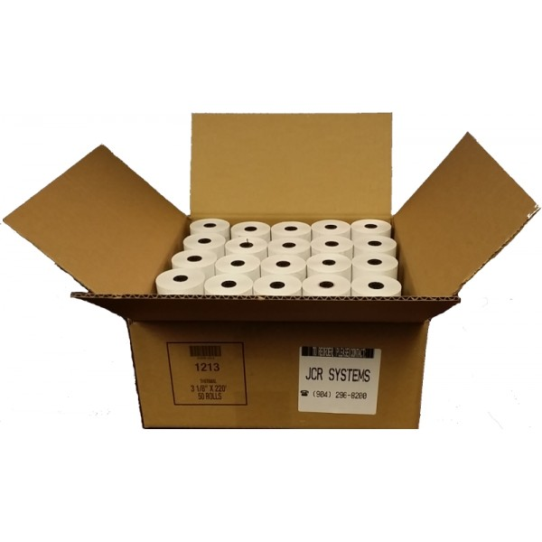 3 1/8 x 220 Thermal Paper Case 50 Rolls