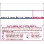 LST-8030 CAS Non UPC Safe Handling Instructions Scale Labels