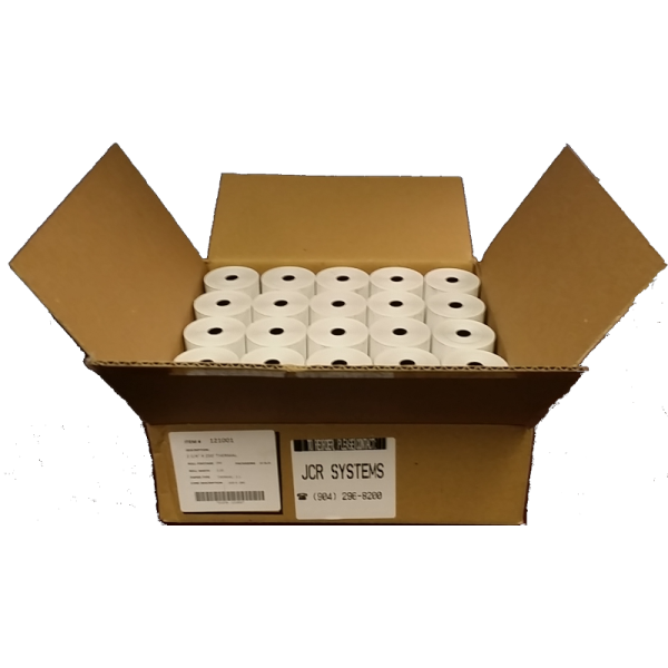 2 1/4 x 250 Thermal Paper Case 50 Large Rolls