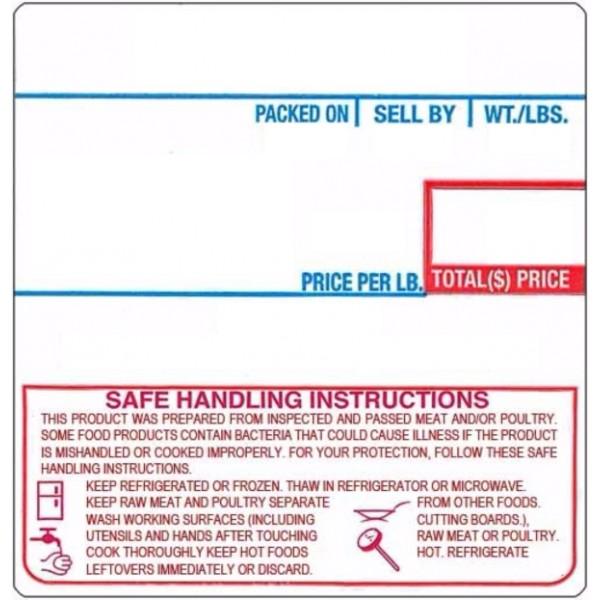 LST-8040 1478 CAS UPC Safe Handling Instructions Scale Labels